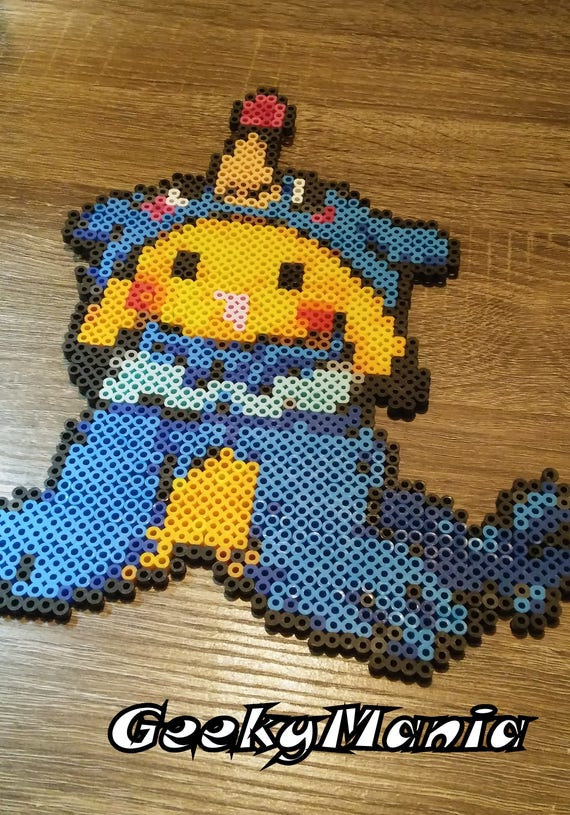 Pokemon Pikachu Disguise Into Popplio Perler Beads