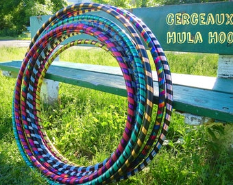 3/4 inch thick Hula Hoop. Perfect for beginner and intermediate.  Adult Fitness Hula Hoop, Festivals, Cardio, Kids Party, etc.