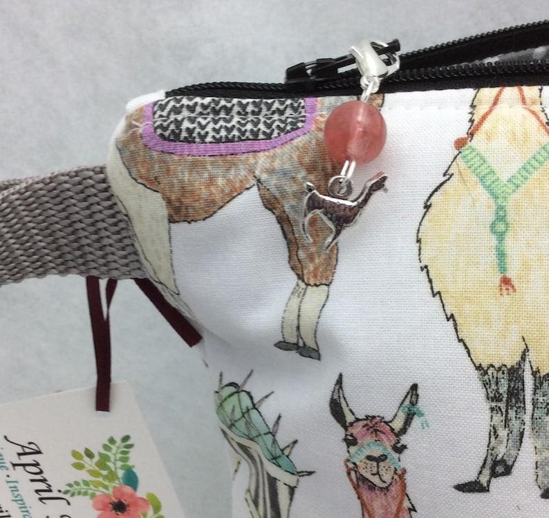 Craft Project Bag Medium Llama Knitting Bag Knitting Project Bag Yarn Bag Llama Crochet Project Bag