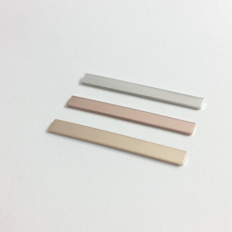 38.1x4mm Bar Blank: 1.5x.16 Silver stamping blank Sterling silver stamping blank Metal stamping blank 10 pieces Bar blank 20 gauge