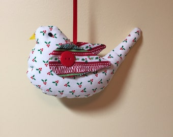 Christmas bird ornaments.