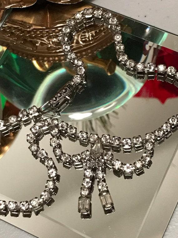 Bow Tie Rhinestone Necklace
