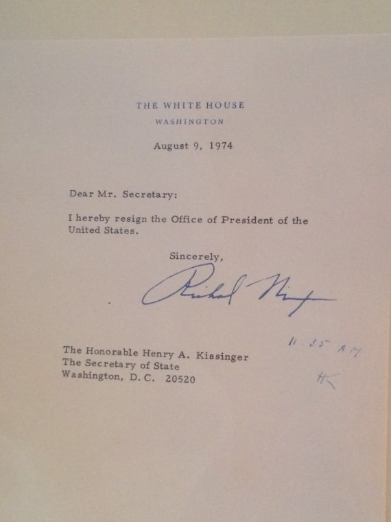 souvenir richard nixon resignation letter 1974 | etsy