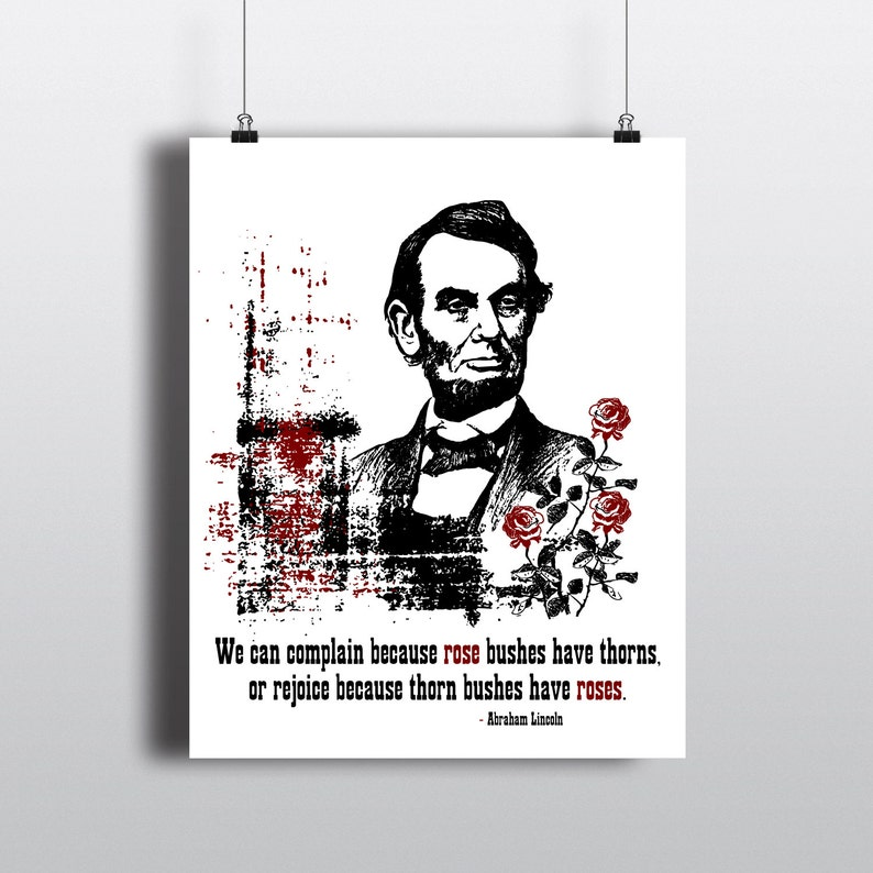 Abraham Lincoln Instant Download Quote Print Vintage Etsy
