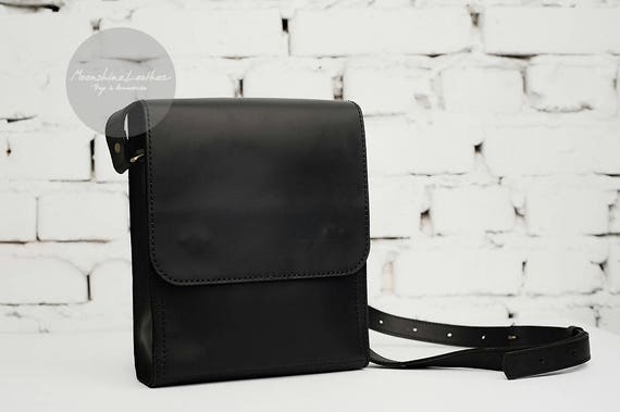 743c07492fc Small men messenger bag leather crossbody mens leather bag   Etsy