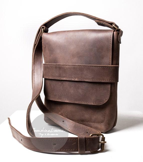 f477dab8f00 Mens messenger small crossbody bag men leather bag men bag   Etsy
