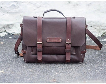 Leather briefcase, men leather bag, mens briefcase, leather messenger bag, laptop bag, leather handbag, leather suitcase, leather satchel