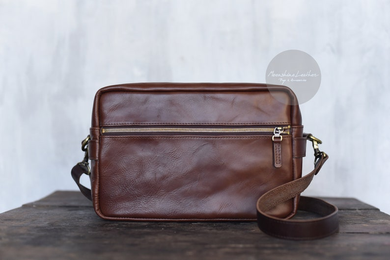 aff2e157d1 CAMERA BAG Mens leather bag Leather organizer Leather camera