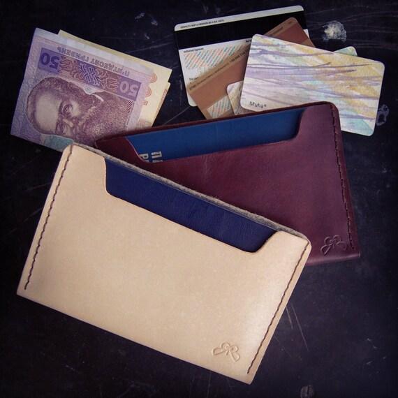 Nouveau Minimaliste Hommes Slim Wallet Money Clip-Papier Cuir /& Feutre 5 emplacements