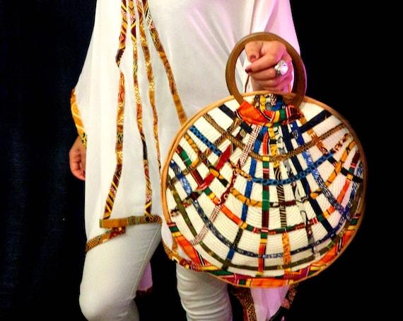 Round Ankara Bag