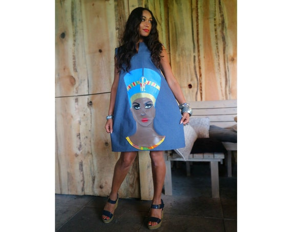 NEFERTITI DENIM TUNIC