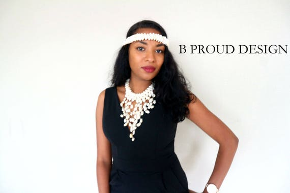 COWRIE SHELL NECKLACE + headband