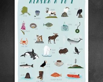 16x20 Alaska A to Z Poster