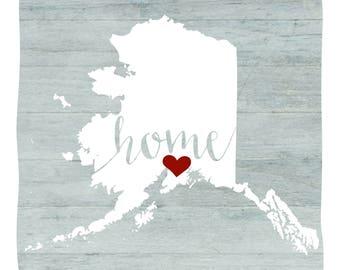 AK Home Red Heart Print