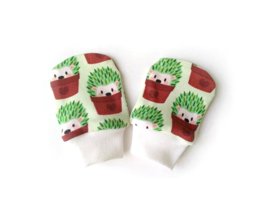 Organic Cotton Newborn Baby Anti Scratch Mittens Gloves Multi Color Cars