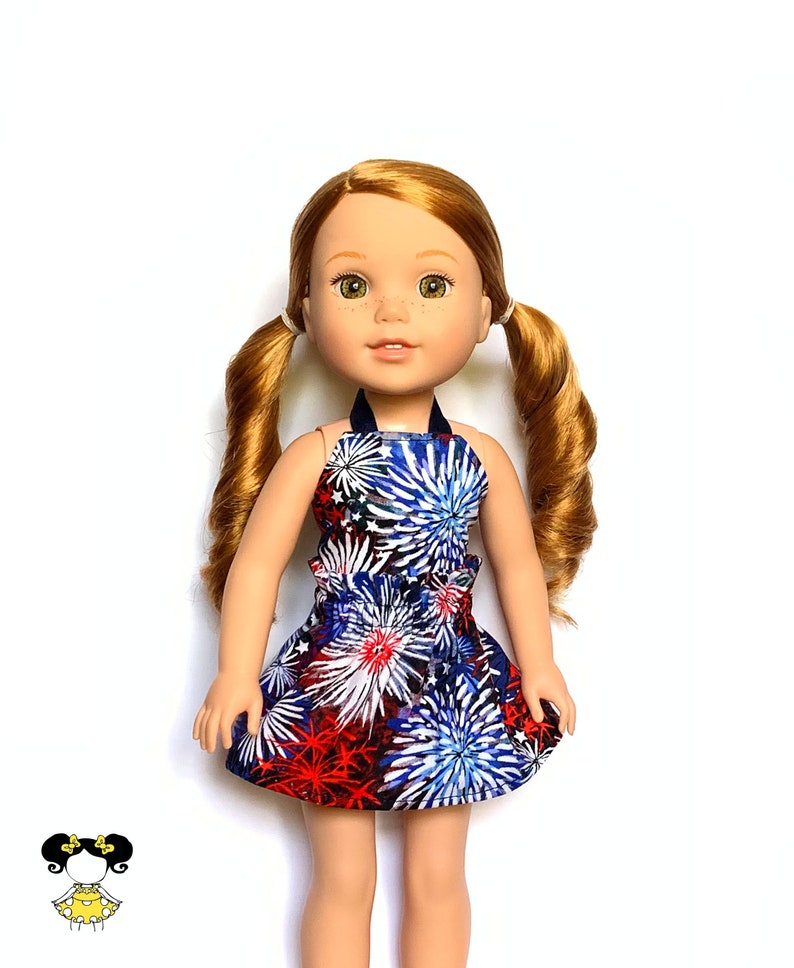 Yellow Butterfly Flower Dress Miniskirt Fit For 18/'/' American Girl Doll Clothes