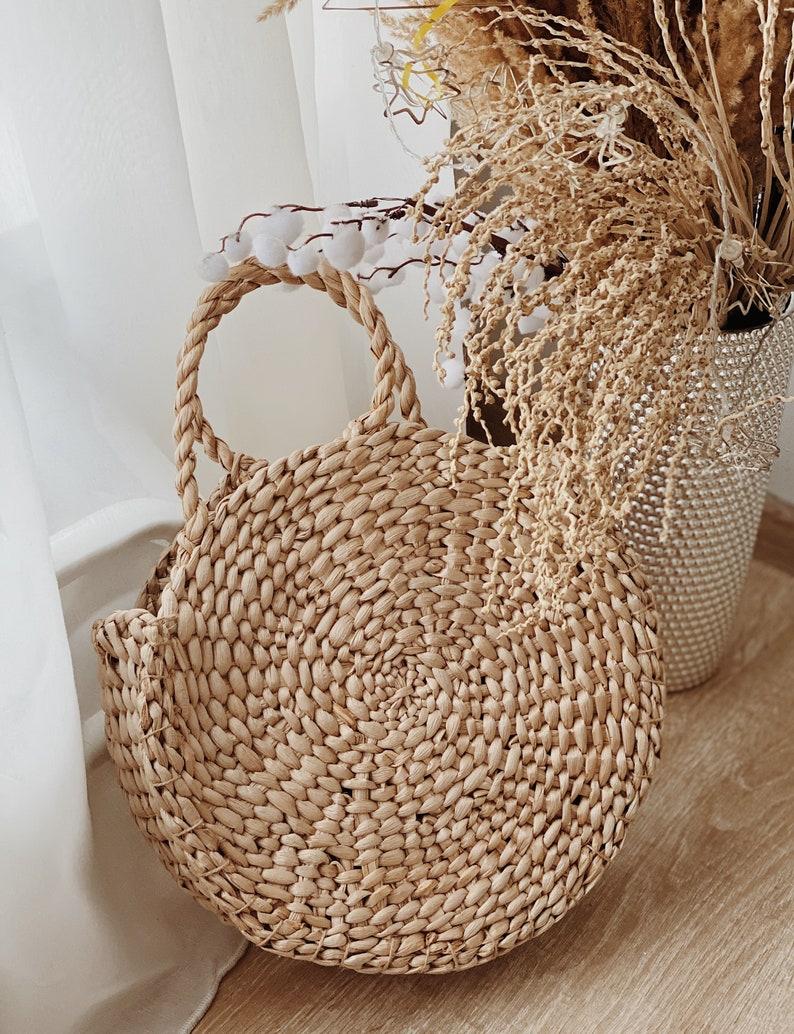 Straw bag Straw handbag Straw basket Beach bag Straw tote image 0