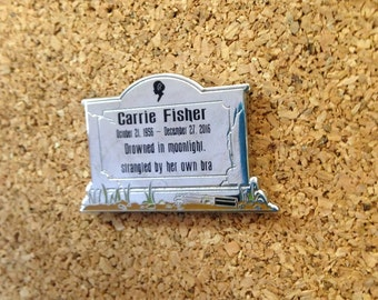 Carrie Fisher Headstone *Enamel Pin* Star Wars Princess Leia Han Solo