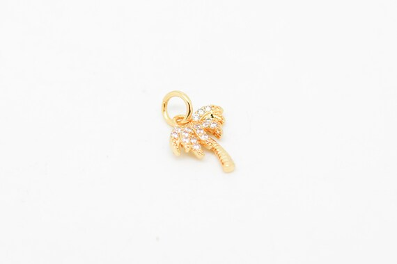 Palm Tree Charm//Pendant Tibetan Platinum 18mm  10 Charms Accessory DIY Jewellery