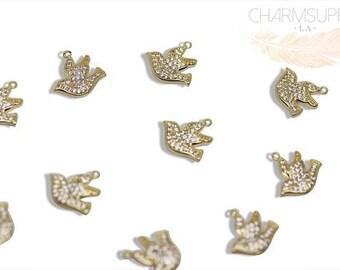 Mircro pave Dove pendant/ charm