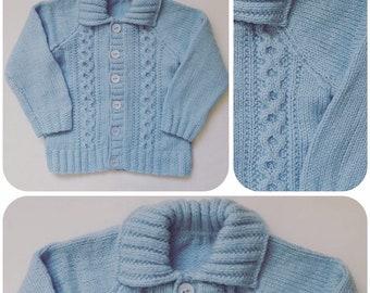 4aa1c2dd4ac4 Blue baby cardigan
