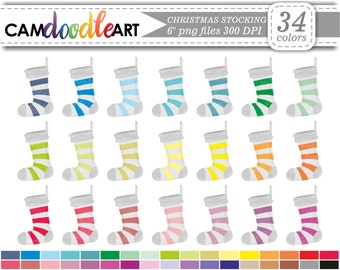 Christmas Stocking Clipart,Christmas Clipart,Christmas Socks,Scrapbooking Clipart,Cardmaking,Planner Clipart,Sticker Clipart,png file