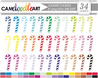 Candy Canes Clipart,Christmas Candy,Christmas Sweets,Scrapbooking Clipart,Cardmaking,Planner Clipart,Sticker Clipart,png file
