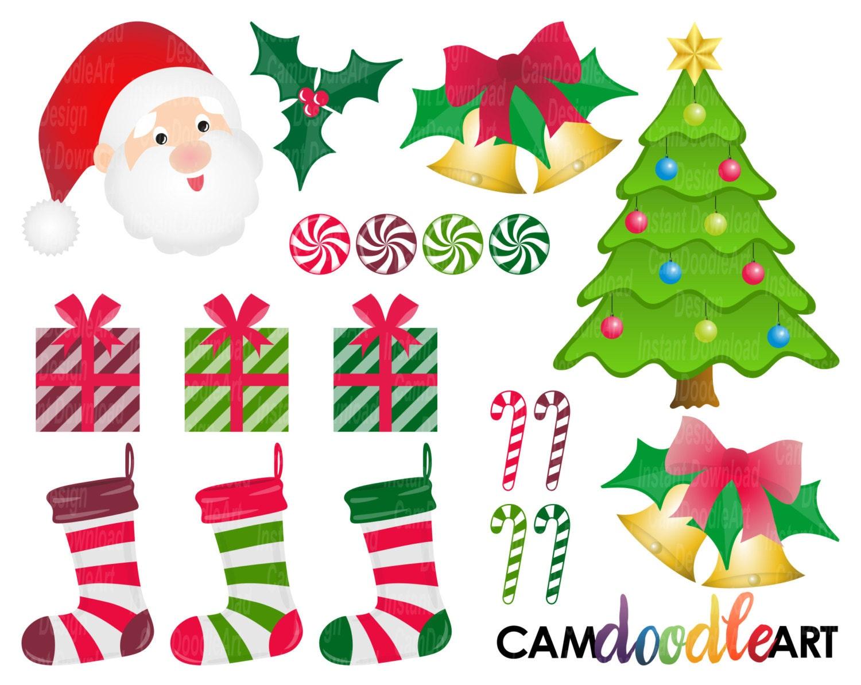 Weihnachten Clipart-Sammlung süße Weihnachtscliparts | Etsy