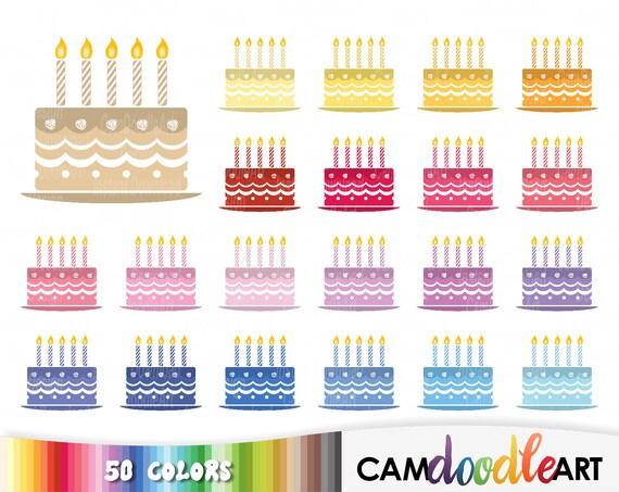 50 Geburtstag Kuchen Clipart Clipart Geburtstag Party Party Etsy