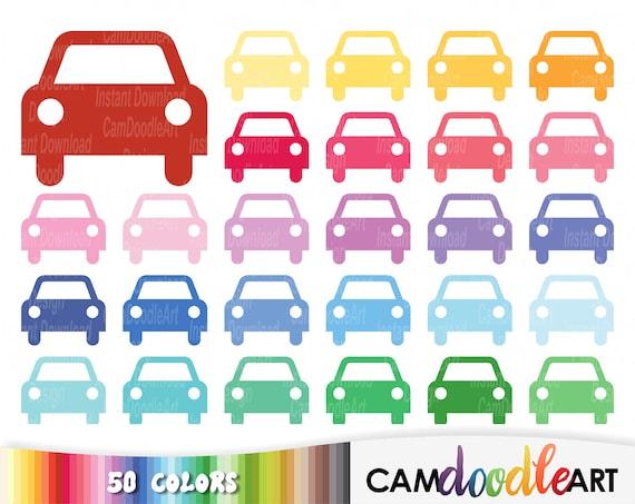 Car Trip Planner >> 50 Car Cliparttransport Cliparttravel Clipartcolorful Etsy