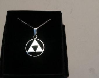 Handmade sterling silver triforce pendant