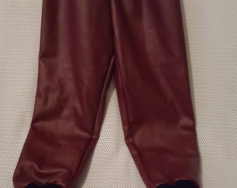 Black and burgundy children's joggers