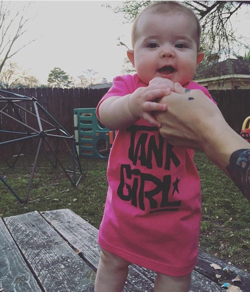 Tank Girl OnesieToddler ShirtPunk comic book feminist girl power baby shower gift  baby girl  rebel girl punk baby girl