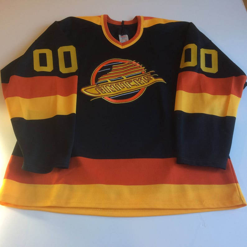 Vancouver Canucks Hockey Jersey L NHL CCM 1989 Away Game Fan  21d9822dc