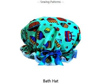 PDF sewing pattern  - Clobber Creations Bath Hat / Shower Cap
