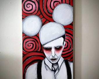 Marilyn Manson Canvas Painting