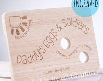 Egg board, Egg and Soldiers, Chopping board, Personalised cutting board, Breakfast tray, Gift
