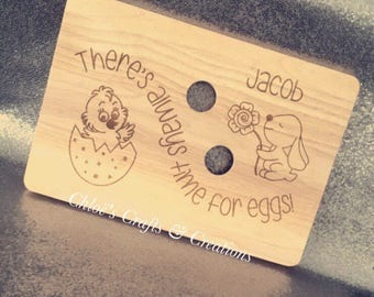 Chopping board, Engraved, Personalised, Easter gift, Breakfast tray, Egg and soldier board, Chopping board, Egg cups