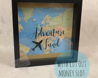 Fondo di avventura - scatola di soldi! Home dècor, unico, risparmio, viaggi, vacanze, salvadanaio, soldi