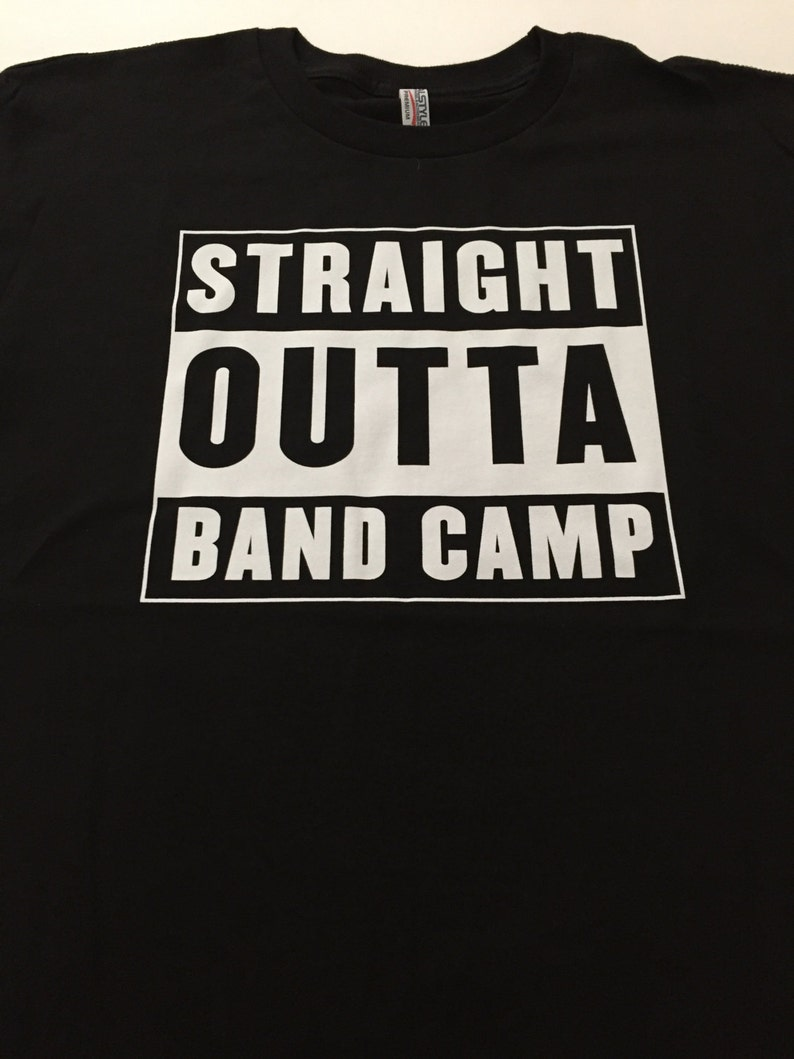 4ae9fabc4 Straight Outta Band Camp Black Tee / Marching / DCI / Drum | Etsy