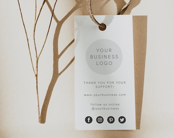 Custom Logo Labels Set of 50+ Custom Logo Tags Large Product Labels 5x 2 Product Tags Customized Hang Tags Printed Logo Labels