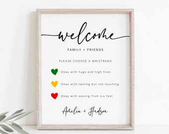 8x10 Covid Wedding Welcome Sign- 5x7 Social Distancing Sign for Wedding Safety Rules /& Guidelines Sign INSTANT DOWNLOAD Mask Wedding Sign