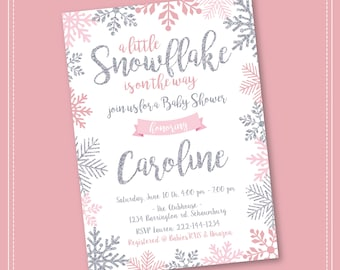 Winter Wonderland Baby Shower Invitations Etsy
