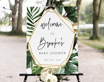 Tropical Bridal Shower INSTANT DOWNLOAD #PBP99 Bridal Shower Signs Templett Editable Bridal Shower Templates Bridal Shower Bundle