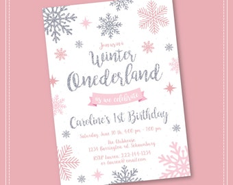 Winter Onederland Invitation Etsy