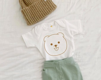 Gender Neutral Baby, Teddy Bear shirt, baby bodysuit, gift for baby, baby shower gift, neutral, hipster baby clothes, Neutral Toddler Shirt