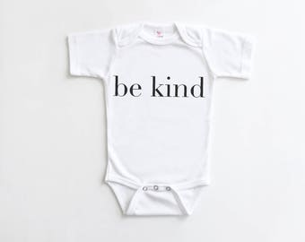 Be Kind, Baby Bodysuit, Hipster Baby Outfit, Monochrome, Trendy Baby, Baby Apparel, Baby Gift, New Baby, Be Kind Bodysuit