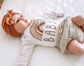 Rainbow Baby Bodysuit, Scandinavian Rainbow, Gift, Rainbow Shirt, Baby Shower Gift, New Baby, Baby Apparel, Hipster Baby, Gender Neutral