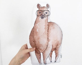 Alpaca, Hipster Pillow, Llama, Hipster Kids Room, Trendy Kids Room, Baby Shower Gift, New Baby, Hipster Baby, Llama Pillow
