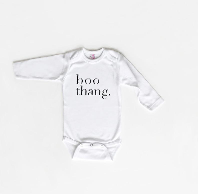 Monochrome Halloween Baby Boo Thang Baby Gift Halloween Outfit Baby Gift Halloween Baby Shirt